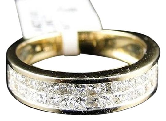 Other ,Yellow,Gold,Princess,Cut,Invisible,Diamond,4.5,Mm,Wedding,Band,Ring,1.5,Ct
