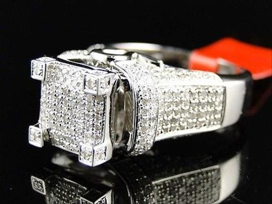 Preload https://img-static.tradesy.com/item/1882310/jewelry-unlimited-white-ladies-gold-finish3d-pave-diamond-engagement-band-11-ct-ring-0-0-540-540.jpg