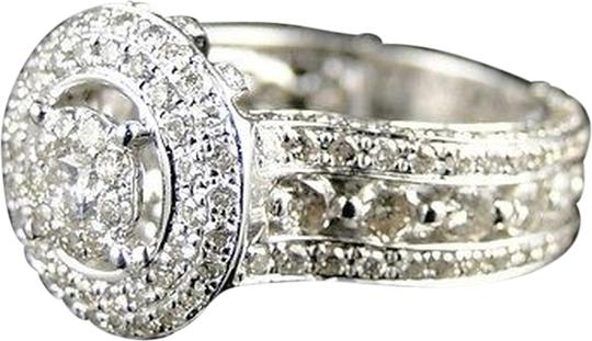 Other Womens,14k,White,Gold,Round,Cut,Designer,Diamond,Bridal,Engagement,Ring,2.85,Ct