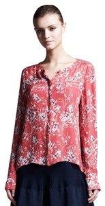 A.L.C. Silk Floral Top red/coral