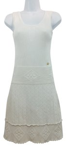 Chanel short dress White Knit on Tradesy