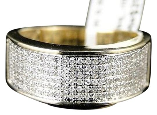 Other 10k,Mensladies,Yellow,Gold,8,Mm,Wedding,Band,Real,Diamond,Ring,12,Ct