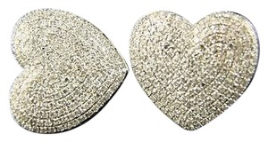 Womens,Heart,Pave,Diamond,Dangle,Stud,Earrings,2.0,Ct