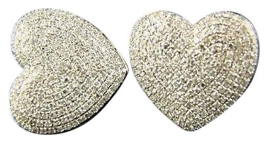 Other Womens,Heart,Pave,Diamond,Dangle,Stud,Earrings,2.0,Ct
