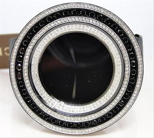 Gucci Mens 52mm Bezel I Gucci Digital Black And White Diamond Watch 18.5 Ct Image 1