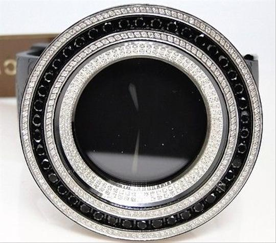 Gucci Mens 52mm Bezel I Gucci Digital Black And White Diamond Watch 18.5 Ct Image 2