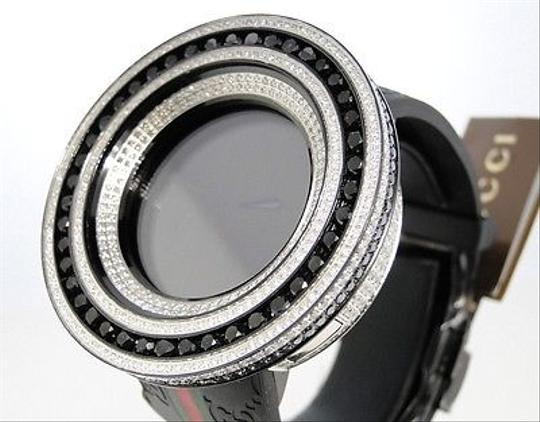 Gucci Mens 52mm Bezel I Gucci Digital Black And White Diamond Watch 18.5 Ct Image 4