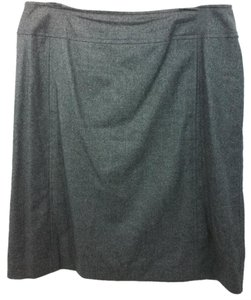Chanel Gray Wool Cashmere Skirt