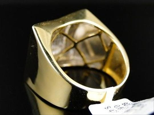 Other Mens,Xl,Yellow,Gold,Finish,Genuine,Diamond,Pave,Pinky,Fashion,Band,Ring,1.0,Ct Image 2