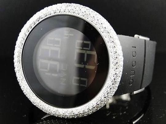 Gucci Mens 49mm Bezel I Gucci Digital White Genuine Diamonds Watch Ct