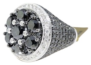 ,Mens,White,Gold,Black,Diamond,Solitaire,Ring,Pinky,Ring,11.68,Ct