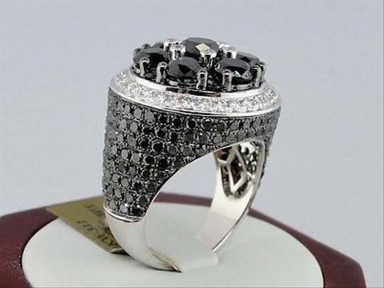 Other ,Mens,White,Gold,Black,Diamond,Solitaire,Ring,Pinky,Ring,11.68,Ct