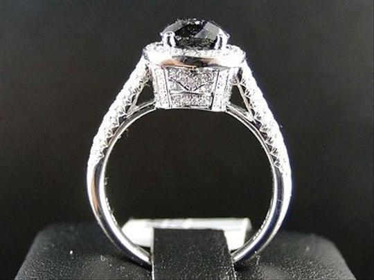 Other 14k,Ladies,White,Gold,Whiteblack,Diamond,Solitaire,Engagementband,Ring,2.25,Ct