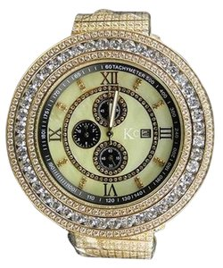 Mens 57 Mm Kcjoe Rodeo Techno Com White Simulated Diamond Watch