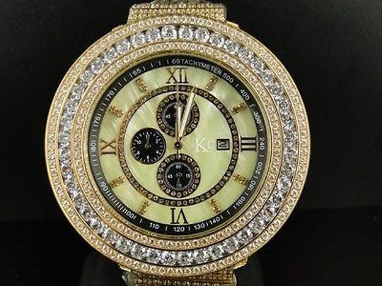 Other Mens 57 Mm Kcjoe Rodeo Techno Com White Simulated Diamond Watch