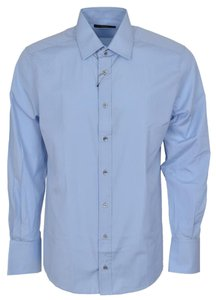 Gucci Men's Shirt Button Down Shirt Blue