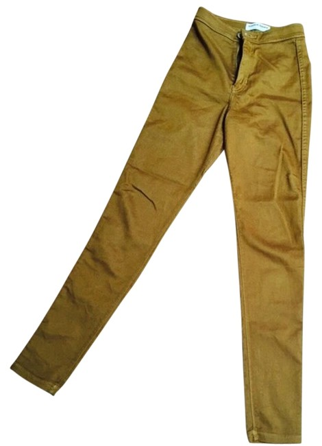 Item - Camel Coated High Waisted Skinny Jeans Size 24 (0, XS)