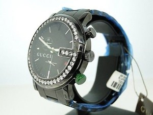Gucci Mens 3.5ct White Diamonds Vs Gucci Ya101331 Pvd Watch