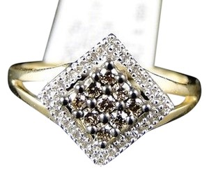 Other 10k,Yellow,Gold,Ladies,Round,Cut,Brown,Fashion,Diamond,Wedding,Ring,.25,Ct
