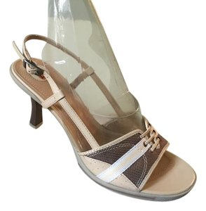 Via Spiga Vintage Fascinante Leather Hewlett Taupe Morelli Sandals