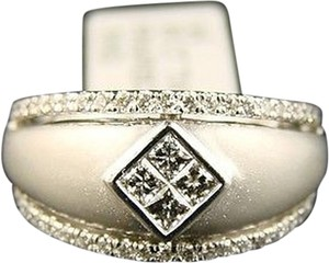Other 14k,Ladies,Princess,Cut,Diamond,Ring,Wide,Band,.75,Ct