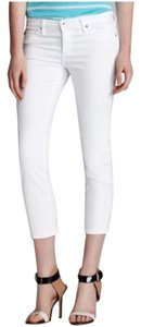 AG Adriano Goldschmied Capri/Cropped Pants White