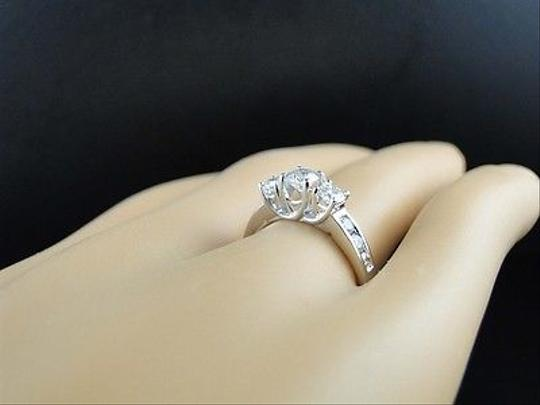 Other 14k,White,Gold,Ladies,3,Stone,Round,Diamond,Engagement,Wedding,Band,Ring,1,Ct