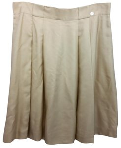 Chanel Pleated Silk Skirt