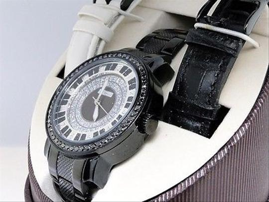 JoJino 2.25 Ct Mens Jojojojinojoe Rodeo Metal Black Diamond Watch Pj-1037a