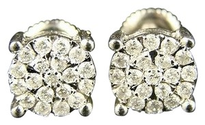 10k,Solitaire,Look,Diamond,Stud,Earrings,8,Mm,Screwback