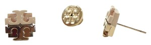 Tory Burch NEW TORY BURCH Dipped Logo Stud Earrings, Blush/Rose Gold