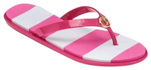 Juicy Couture Pink and white stripped Sandals