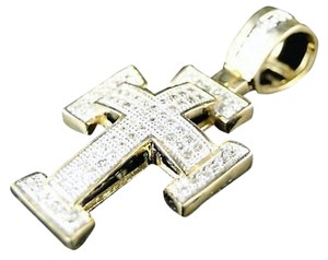 10k,Mens,Ladies,Mini,Real,Diamond,Cross,Charm,Pendant