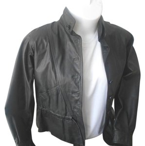 Casual Corner Junior Size Moto Style Motorcycle Leather Jacket