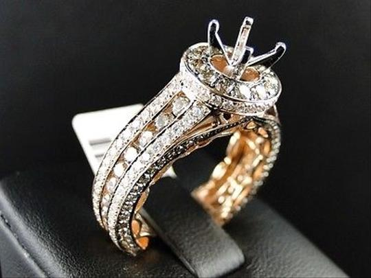 Other 14k,Rose,Gold,Round,Cut,Brown,Diamond,Semi,Mount,Engagement,Ring,3.26,Ct