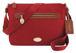 Coach Canvas Sawyer Red Cross Body Bag