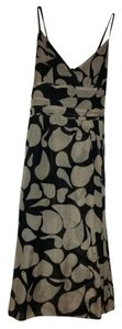 Max Studio Patterns Black Beige Creme Dress