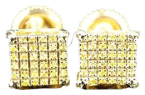 Other Mensladies,Yellow,Gold,Finish,Canary,Diamond,7,Mm,4,Prong,Studs,Earrings,14,Ct