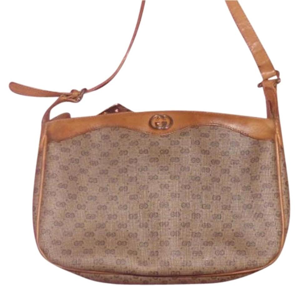 8bc3a12d26a Gucci Rare Early Lots Room Pockets Timeless Style Body Shoulder Excellent  Vintage Cross Body ...