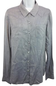 Ella Moss Blue Blouse Button Down Shirt