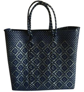 Oxaca Artisans by KML Brand New Blue-silver Unlined Tote