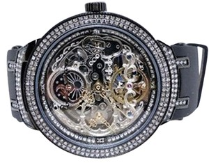 Joe Rodeo Joe Rodeojojojojino Black Metal Automatic Swiss Diamond Watch Jjm 82