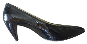 Walter Steiger Patent Leather Vintage Made In Italy Black Pumps