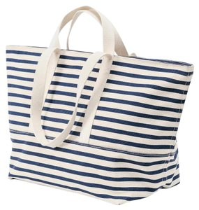 BAGGU Canvas Nautical Tote in Sailor Stripe