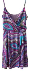 Trina Turk short dress Purple on Tradesy