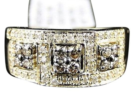 Other 10k,Ladies,Yellow,Gold,Round,Cut,Brown,Diamond,Prong,Wedding,Ring,Band