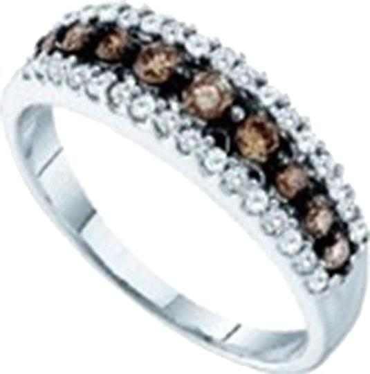Other 10k,White,Or,Yellow,Gold,Browncognac,Diamond,Ring,Band,12,Ct,.50,Ct