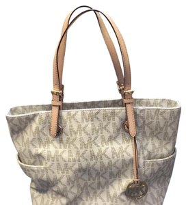 Michael Kors Signature Fall Tote in Cream