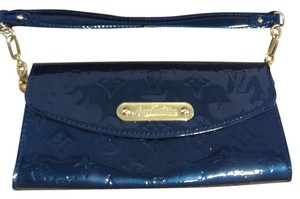 Louis Vuitton Like New Blue Clutch