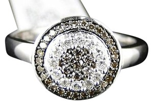 Other Ladies,Womens,White,Gold,Brown,Round,Cut,Diamond,Ring,13,Ct